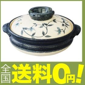 萬古焼 土鍋 (深鍋) 6号 1人用 呉須唐草 13683