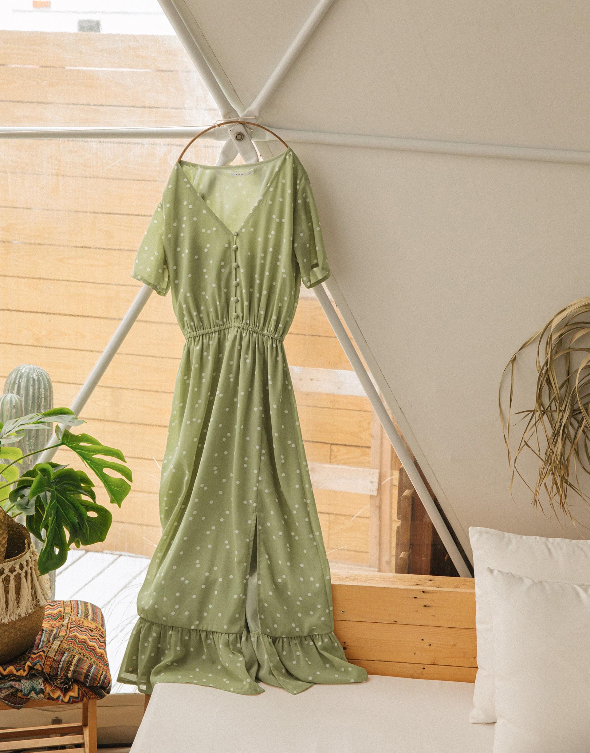PAZZO+V領不規則點點雪紡仙女洋裝(TIFFANY聯名款)