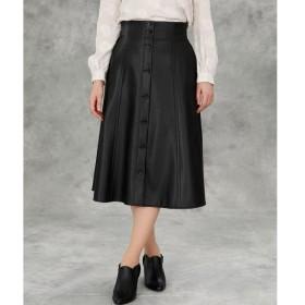 ef-de / エフデ 《Maglie par ef-de》フェイクレザー2WAYスカート