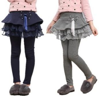 韓國子供服 スカート付きレギンス スカッツ 女の子 110/120/130/140/150/160cm スカート 子供服 レイア