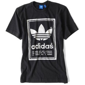 adidas アディダスオリジナルス 両面ロゴTシャツ BP6154 黒 ブラック JAPAN