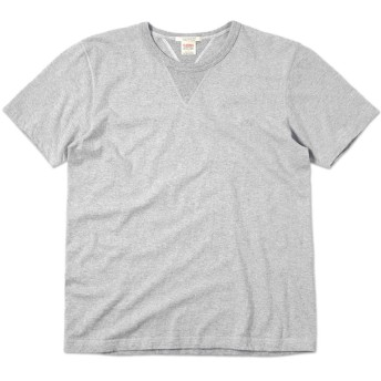BARNS OUTFITTERS BR-8145 ヴィンテージ S/S Vガゼット クルーネックTシャツ(2(L) 15 GREY) メンズ 日本製 MADE IN JAPAN
