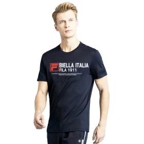 FILA (フィラ) メンズ トップス 半袖 Tシャツ 4574 ネイビー L