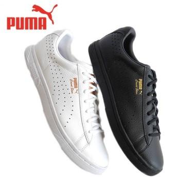 [取扱店限定モデル] PUMA プーマ コートスター GOLD 361051 レザーシューズ スニーカー 白 黒 メンズ レディース