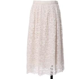 ef-de L 《大きいサイズ》総レースギャザースカート 《Maglie White》 その他 スカート,ホワイト