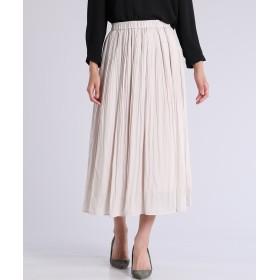 CLEAR IMPRESSION プリーツロングスカート ひざ丈スカート,アイボリー2