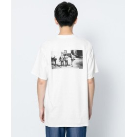 (SENSE OF PLACE/センスオブプレイス)バックプリントTシャツ(5分袖)/メンズ WHITE