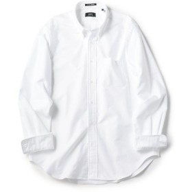 シップス SHIPS×IKE BEHAR アメリカ製 オックスフォード ボタンダウン シャツ メンズ ホワイト X-LARGE 【SHIPS】