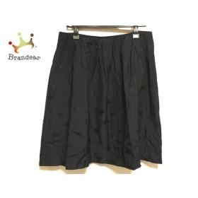 ソニアリキエル スカート サイズ46 XL レディース 美品 ダークネイビー×ネイビー×黒 新着 20190810