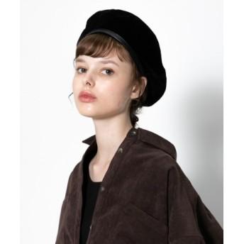 SENSE OF PLACE(センスオブプレイス) 帽子 ハンチング・ベレー帽 パイピングコーデュロイベレー