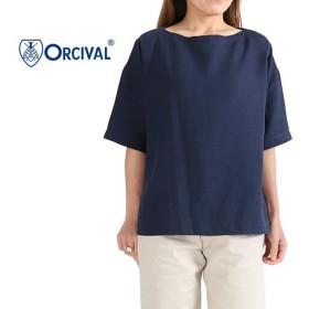 [クーポン対象アイテム 11/1(月) 9:59終了] ORCIVAL オーシバル リネン プルオーバーシャツ RC-3708 YLM カットソー レディース