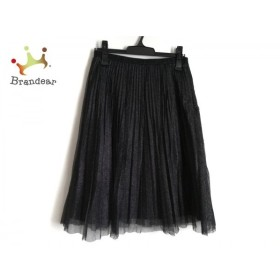 ネミカ スカート サイズ9 M レディース 美品 黒 プリーツ/メッシュ/ラメ 新着 20190810