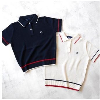 FRED PERRY フレッドペリー ニットポロシャツ F5259 半袖ポロシャツ レディース