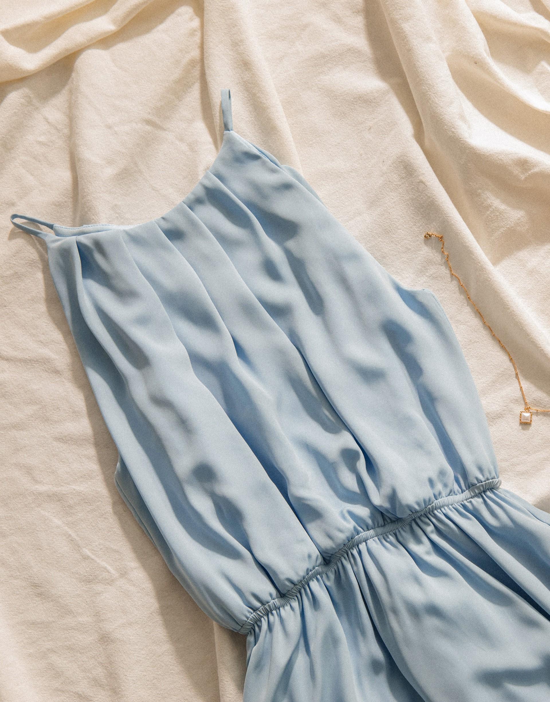 PAZZO+氣質繞頸縮腰洋裝(TIFFANY聯名款)