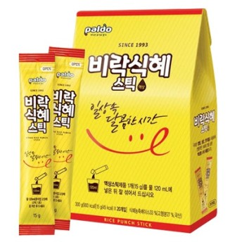 『paldo』 ビラクシッケ スティック|韓国式甘酒(15g×20個・液状スティック) 伝統茶 伝統飲料 韓国飲料 韓国飲み物 韓国ドリンク 韓国食品