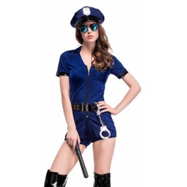 ポリス 警察 コスプレ ハロウィン  警察官 婦警 制服 女性 婦人警官 軍人 衣装 コスプレ ハロウィン 仮装 コスチューム ポリスウーマン