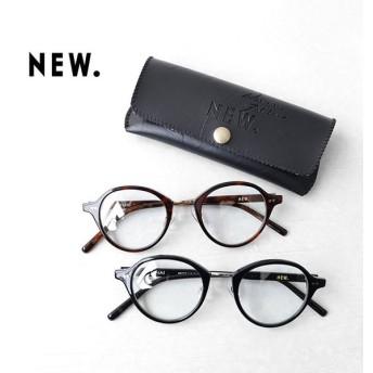 NEW. ニュー JONAS ジョナス クリアレンズ 丸メガネ 伊達眼鏡 べっ甲 ニューマン メンズ レディース
