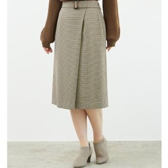 [マルイ]【セール】プレミアムフィールチェックラップ風スカート/ロペピクニック(ROPE' PICNIC)