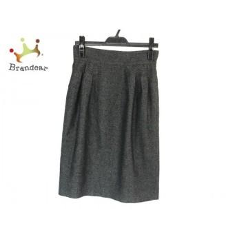 レキップ ヨシエイナバ L'EQUIPE YOSHIE INABA スカート サイズ36 S レディース 黒×グレー 新着 20190810