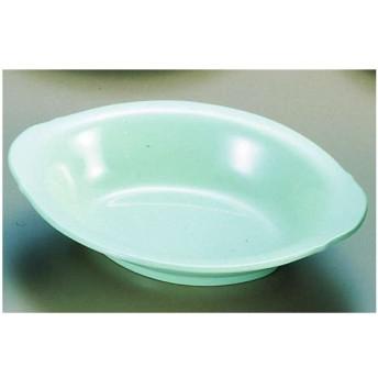 メラミン「青磁」 小判ベーカー皿 CS−46 (中)