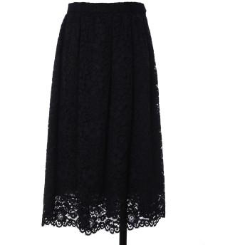 Maglie White デイジーレースギャザースカート