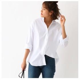 【アクアガール/aquagirl】 ストレッチブロード オーバーサイズシャツ