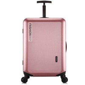 ANGELCITY スーツケース 機内持ち込み キャリーケース キャリーバッグ スピナー 超軽量 ファスナー式 TSAロック付 大容量 静音キャスター ハードケース 盗難防止 傷が目立ちにくい ビジネス 旅行 出張 男女兼用 A1825 (24インチ, ローズゴールド)