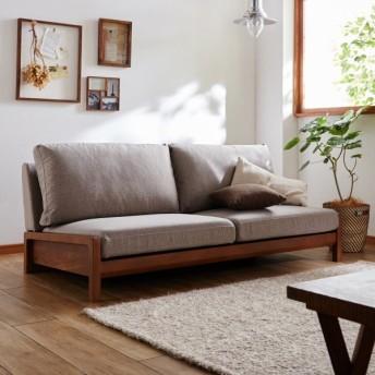 ソファー おしゃれ 安い 置くだけで様になる。天然木フレームのカバーリングローソファー 「ブラウン×イエロー」