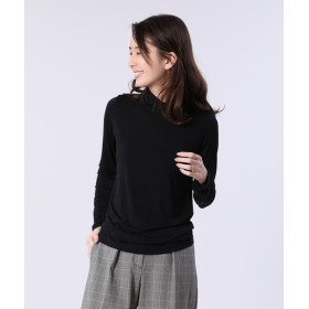 【PLST】レーヨンポリテンジクタートルネックTシャツ