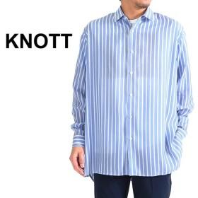 Knott ノット オーバーサイズ ストライプ ビッグシャツ 57019101010 長袖シャツ メンズ