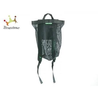 フラボア FRAPBOIS リュックサック 黒×グリーン メッシュ 化学繊維 新着 20190810