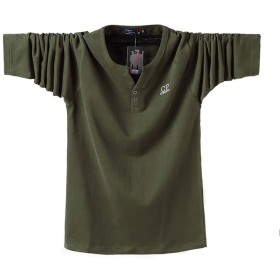 WilliamTシャツ メンズ Vネック 半袖 長袖 配色切替 ボタン 快適 カジュアル おしゃれ おもしろ tシャツ メンズ 無地 スリム tシャツ