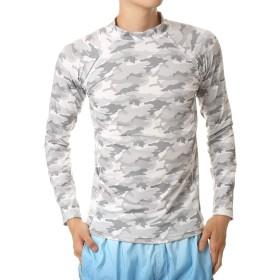 [トップイズム] ラッシュガード メンズ 水着 UVカット Tシャツ 9分袖 4-カモフラグレー9分袖 LLサイズ