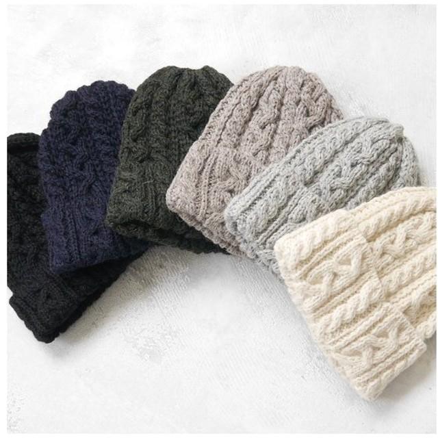 CLIPPER CASUALS クリッパー カジュアル 羊毛 編み込み ウール ニットキャップ ニット帽 帽子 メンズ レディース
