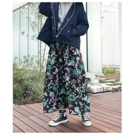 【アクアガール/aquagirl】 フラワープリントフレアスカート
