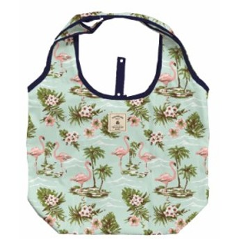 保冷バッグ Mサイズ フラミンゴ柄 保冷 エコバッグ 折りたたみ マザーズバッグ ショッピングバッグ ミニ 軽量 トート マイバッグ ナイロ