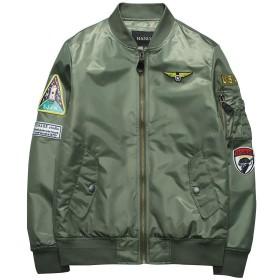 NCF MA-1 エムエーワンジャケット ミリタリフライトジャケット メンズ 薄手 ジャケット ネイビー 4色 M-3XL グリーン M