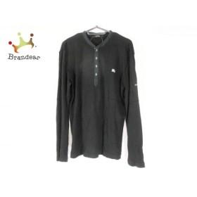 バーバリーブラックレーベル Burberry Black Label 長袖ポロシャツ サイズ3 L メンズ 黒 新着 20190810