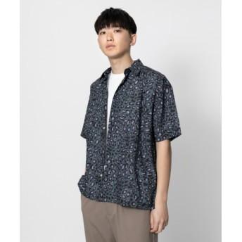 SENSE OF PLACE(センスオブプレイス) トップス シャツ・ブラウス レオパードビッグシャツ(5分袖)