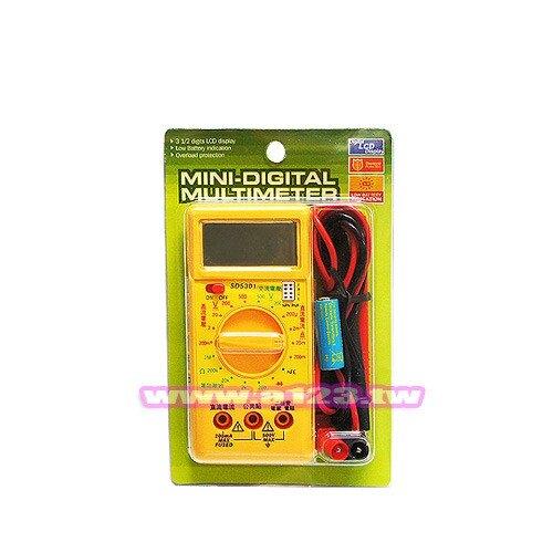 SD 迷你數位三用電錶 SD-5301