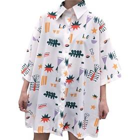 [HoneyHoneyHoney]可愛いポップな絵柄総柄半袖シャツ1242