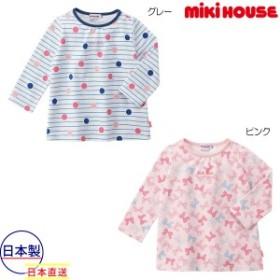 ミキハウス mikihouse 総柄長袖Tシャツ(80cm-130cm)