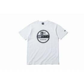 【ニューエラ公式】 コットン Tシャツ タイガーストライプカモグレー バイザーステッカー ホワイト メンズ レディース Large 半袖 Tシャツ 12108177 NEW ERA