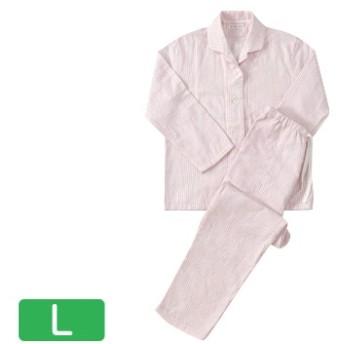 快眠パジャマ マシュマロガーゼ ストライプ レディスパジャマ ピンク Lサイズ RPZ18029L-P