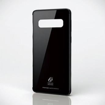 Galaxy S10/ハイブリッドケース/ガラス/ブラック PM-GS10HVCG3BK