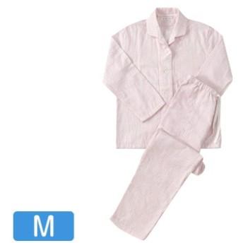 快眠パジャマ マシュマロガーゼ ストライプ レディスパジャマ ピンク Mサイズ RPZ18029M-P