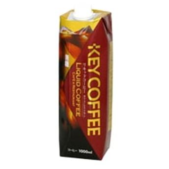 KEYコーヒー リキッドコーヒー テトラプリズマ無糖 1000ml x6