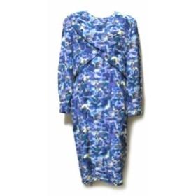 Vintage cassandre ヴィンテージ  カサンドレ「42」レトロドレープシルクワンピース (ドレス クラシック) 120773 【中古】