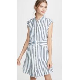 デレク ラム Derek Lam 10 Crosby レディース ワンピース ワンピース・ドレス Sleeveless Shirtdress with Twist Waist Detail White/Blu