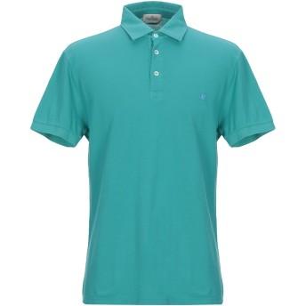 《期間限定セール開催中!》BROOKSFIELD メンズ ポロシャツ エメラルドグリーン 52 コットン 100%